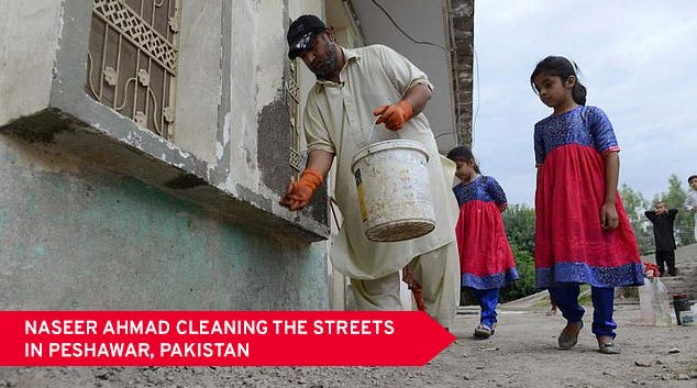 Naseer Ahmad Cleaning The Streets