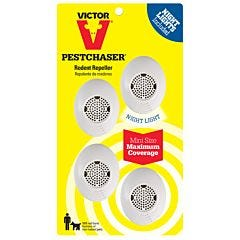 Victor® Mini PestChaser® Rodent Repeller with Nightlight - 4 Pack