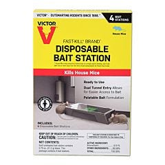 Victor® Fast-Kill® Brand Disposable Mouse Bait Station - 4 Pack
