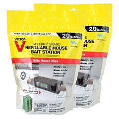 Victor® Fast-Kill® Brand Refillable Mouse Poison Bait Station - 40 Baits