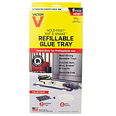Victor® Hold-Fast® Refillable Rat Glue Traps - 6-Pack